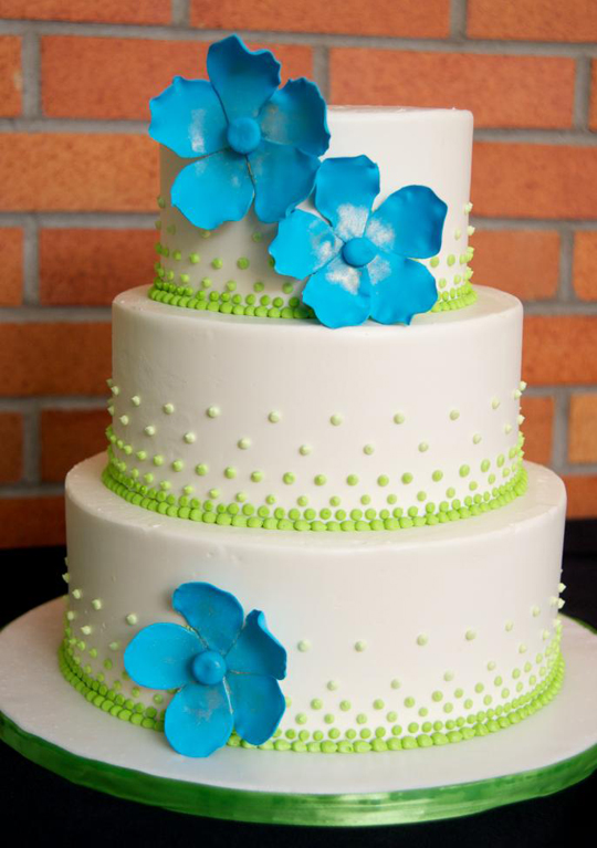 navy and lime green wedding cakes at orange shoes zingerman s bakehouse 17742