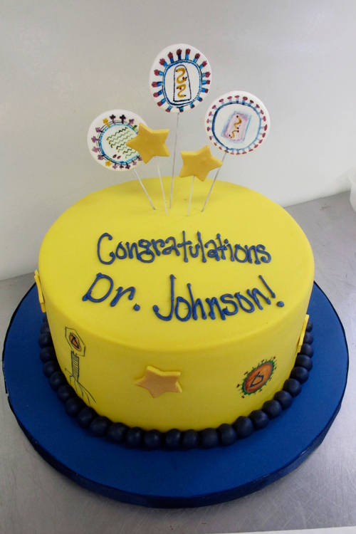This is the virology cake for Dr. Johnson.  We know there is influenza and the HIV virus.  Anyone out there who studies virology know any of the others?