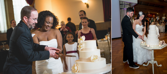 Left: Rachel Shomsky Photography; Right: Tammy LaBar Weddings