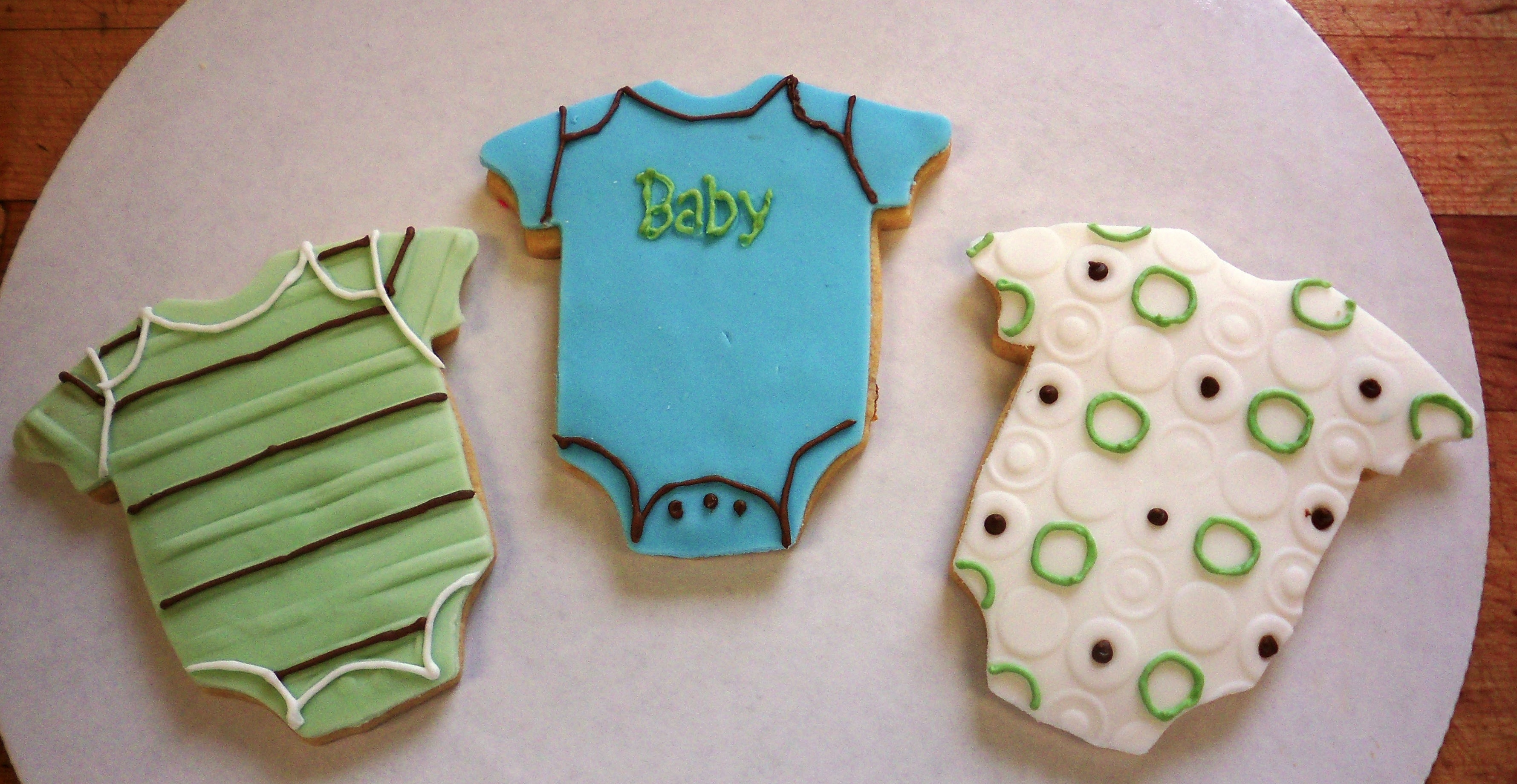 Boy onesie cookies