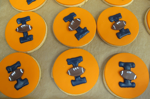 Iowa football cookies